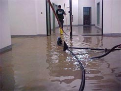 COMMERCIAL BUILDING FLOOD WATER DAMAGE